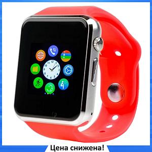 Умные часы Smart Watch Phone A1, смарт часы в стиле Apple Watch Красные