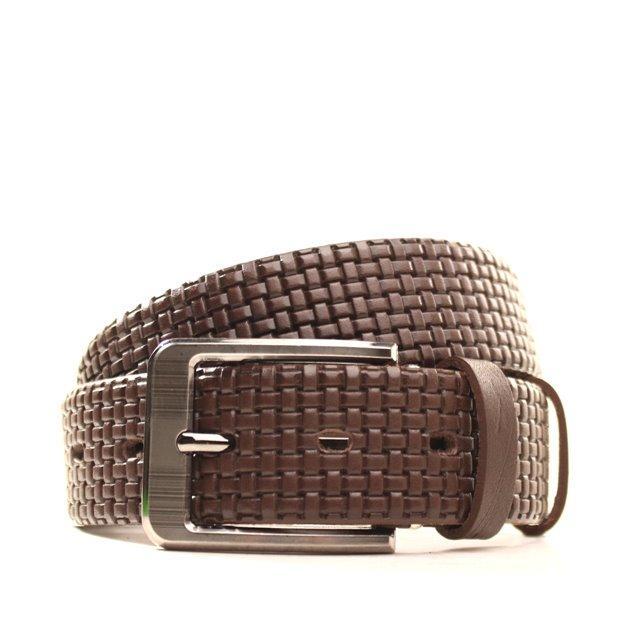 Ремень кожаный Lazar 105-115 см коричневый L35Y1W23
