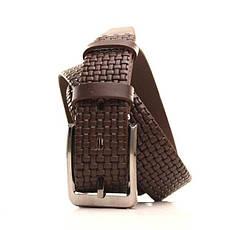 Ремень кожаный Lazar 105-115 см коричневый L35Y1W23, фото 2