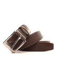 Ремень кожаный Lazar 105-115 см коричневый L35Y1W23, фото 3