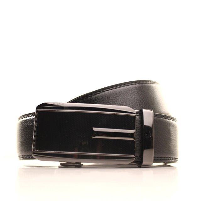 Ремень кожаный Alon 105-110 см черный l35a1a29