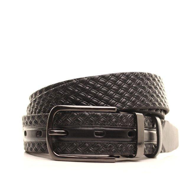 Ремень кожаный Lazar 130-140 см черный L30U1W19-1
