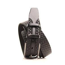 Ремень кожаный Lazar 130-140 см черный L30U1W19-1, фото 2
