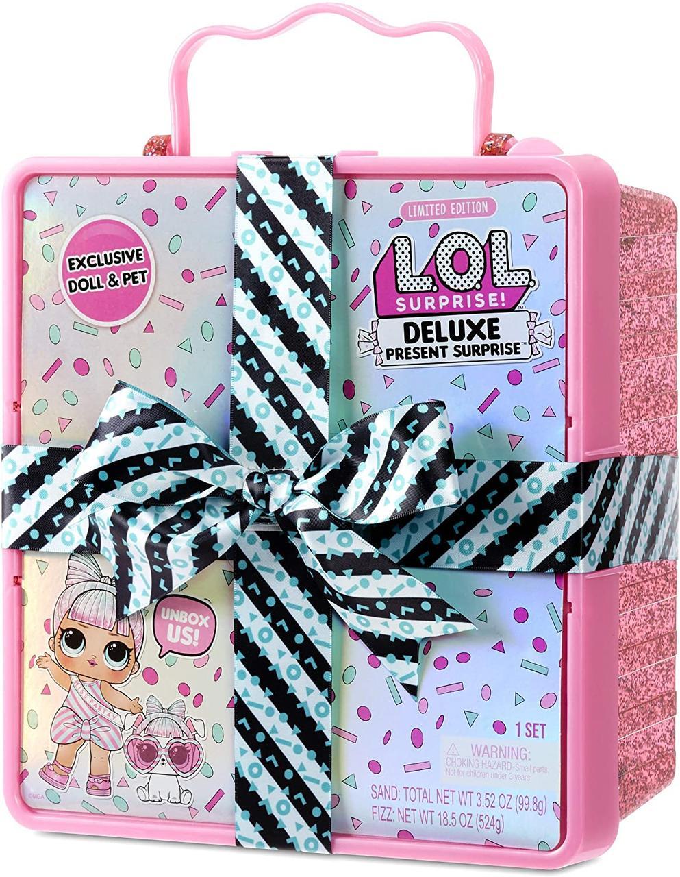 ЛОЛ Сюрприз Суперподарок Розовый LOL Deluxe Present Surprise pink (570691)