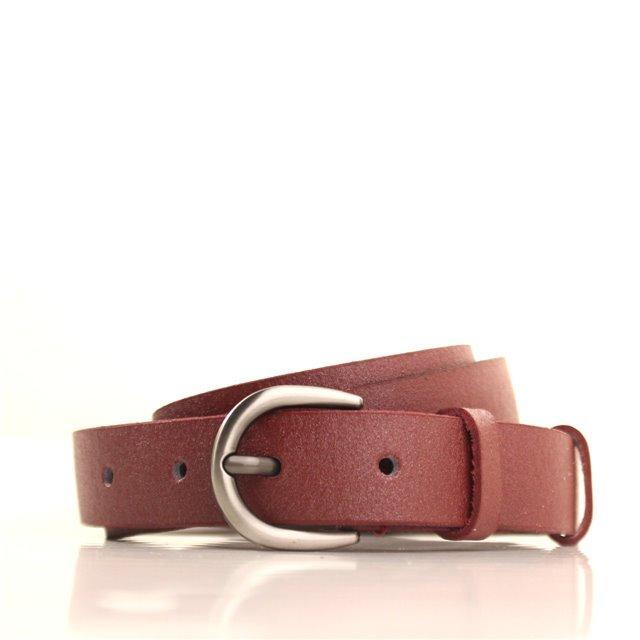 Ремень кожаный Lazar 105-110 см бордовый l25s0w100
