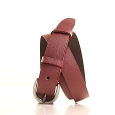 Ремень кожаный Lazar 105-110 см бордовый l25s0w100, фото 2