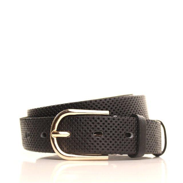 Ремень кожаный Lazar 115 см черный L30S0W17