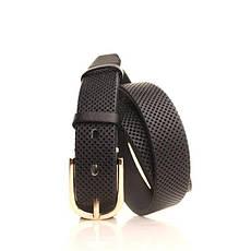 Ремень кожаный Lazar 115 см черный L30S0W17, фото 2