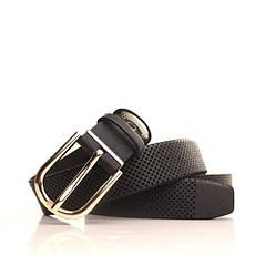 Ремень кожаный Lazar 115 см черный L30S0W17, фото 3