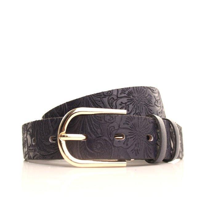 Ремень кожаный Lazar 115 см синий L30S0W19