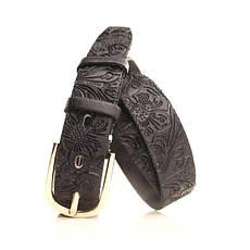 Ремень кожаный Lazar 115 см синий L30S0W20, фото 2