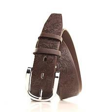 Ремень кожаный Lazar 105-110 см коричневый L35S0W56, фото 2