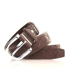 Ремень кожаный Lazar 105-110 см коричневый L35S0W56, фото 3