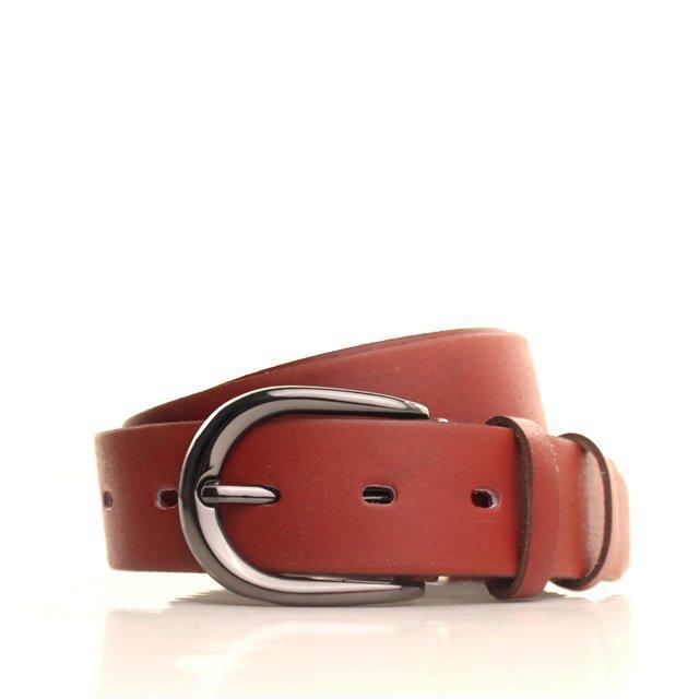 Ремень кожаный Lazar 115 см коричневый L35S0W64