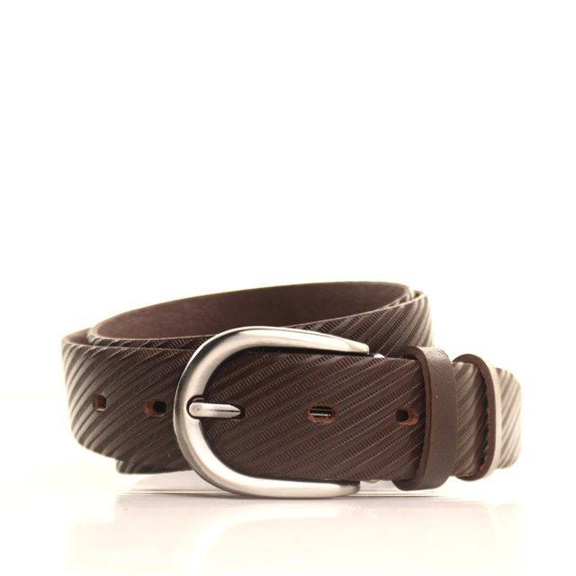 Ремень кожаный Lazar 120-125 см коричневый L35Y0W10