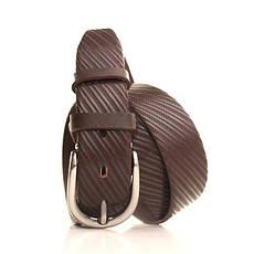 Ремень кожаный Lazar 120-125 см коричневый L35Y0W10, фото 2