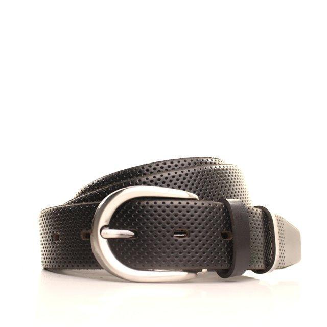 Ремень кожаный Lazar 120-125 см черный L35Y0W13