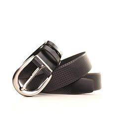Ремень кожаный Lazar 120-125 см черный L35Y0W13, фото 3