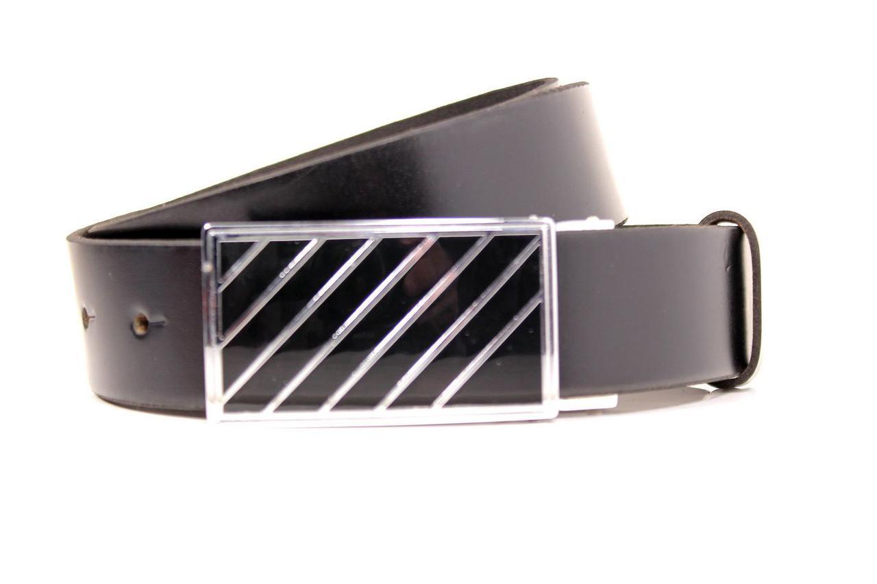 Ремень кожаный Lazar 105-110 см черный Л35Б1Г2