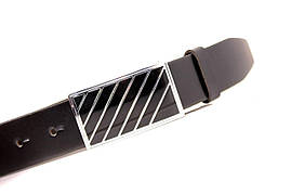 Ремень кожаный Lazar 105-110 см черный Л35Б1Г2, фото 2