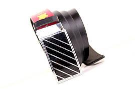 Ремень кожаный Lazar 105-110 см черный Л35Б1Г2, фото 3