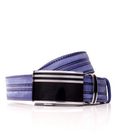 Ремень кожаный Lazar 105-110 см голубой л35в1а7