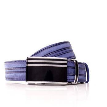 Ремень кожаный Lazar 105-110 см голубой л35в1а7, фото 2