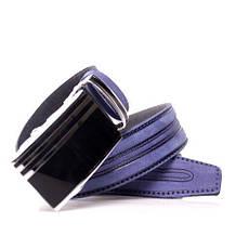 Ремень кожаный Lazar 105-110 см голубой л35в1а7, фото 3