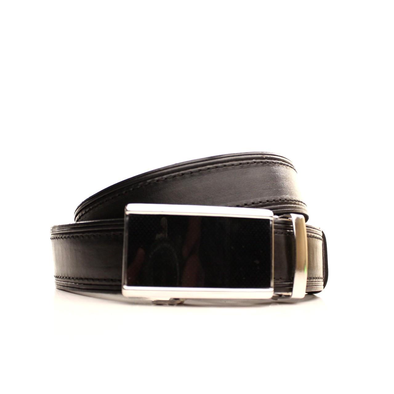 Ремень кожаный Lazar 120-125 см черный l35u1a90