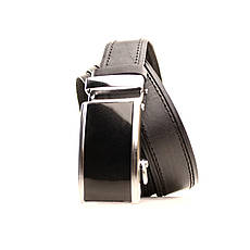 Ремень кожаный Lazar 120-125 см черный l35u1a90, фото 2