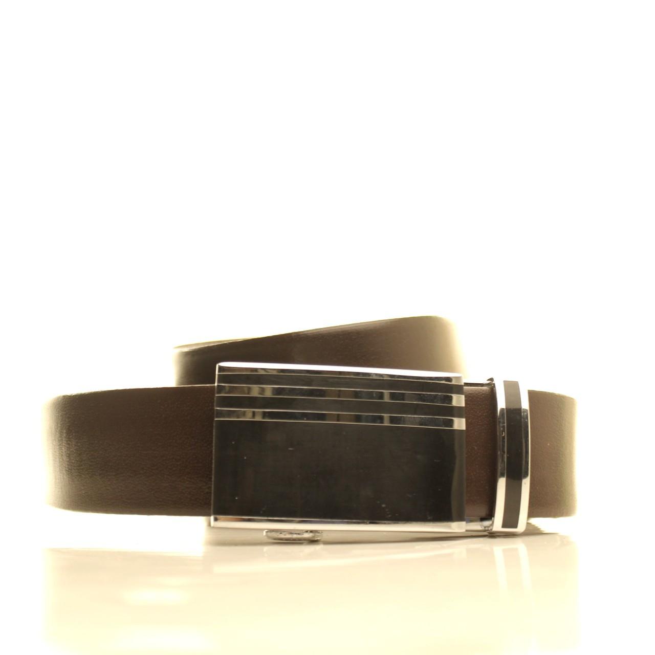 Ремень кожаный Lazar 120-125 см синий l35u1a119