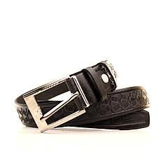 Ремень кожаный Lazar 60-70 см черный l30s3w23, фото 3