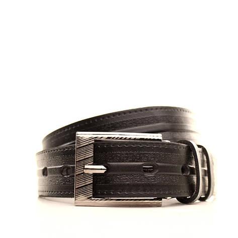 Ремень кожаный Lazar 60-70 см черный l30u3w15, фото 2