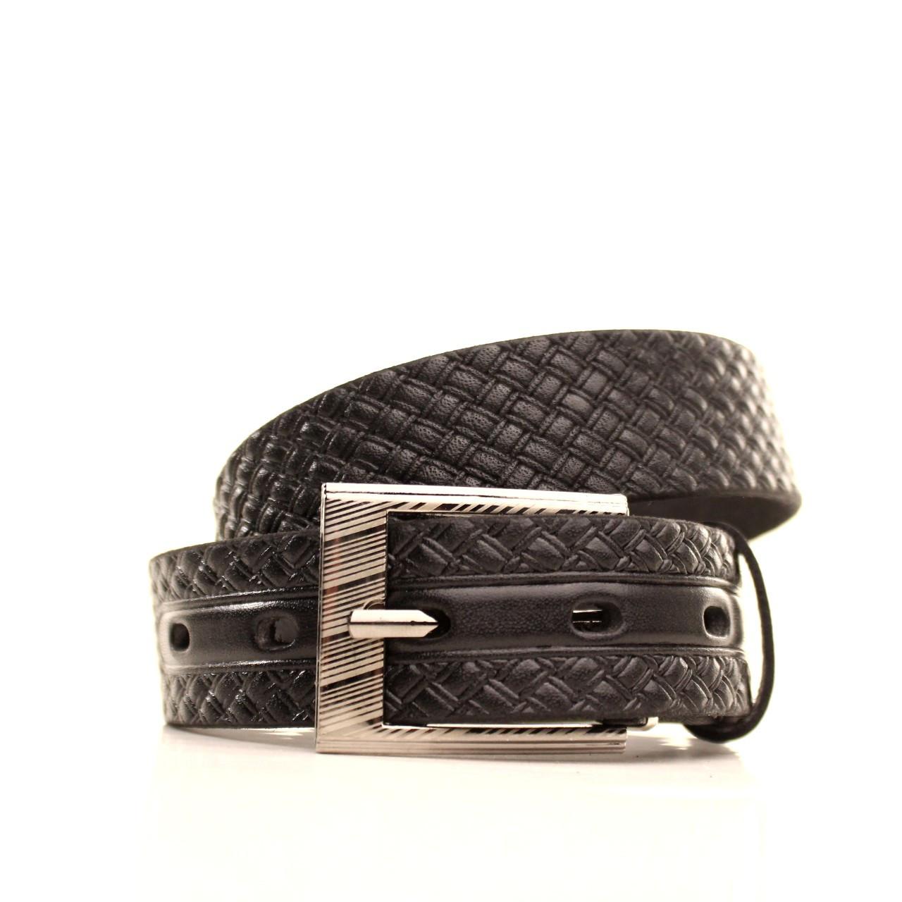 Ремень кожаный Lazar 60-70 см черный l30u3w16