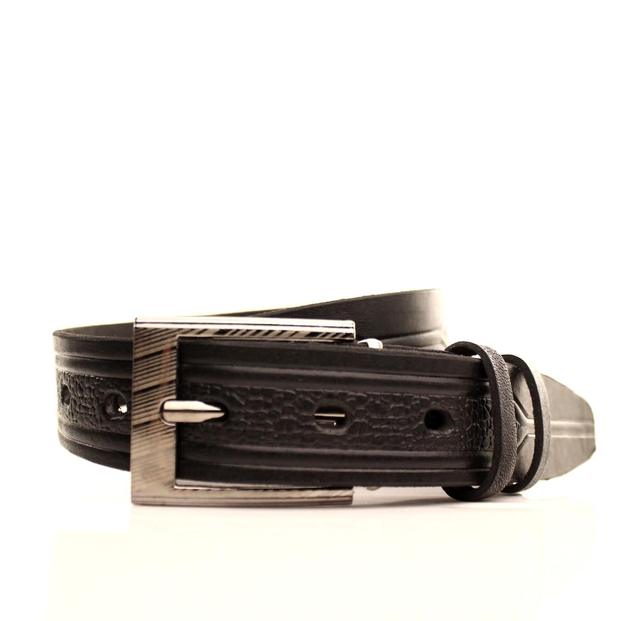 Ремень кожаный Lazar 60-70 см черный l30u3w17