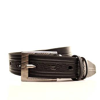 Ремень кожаный Lazar 60-70 см черный l30u3w17, фото 2