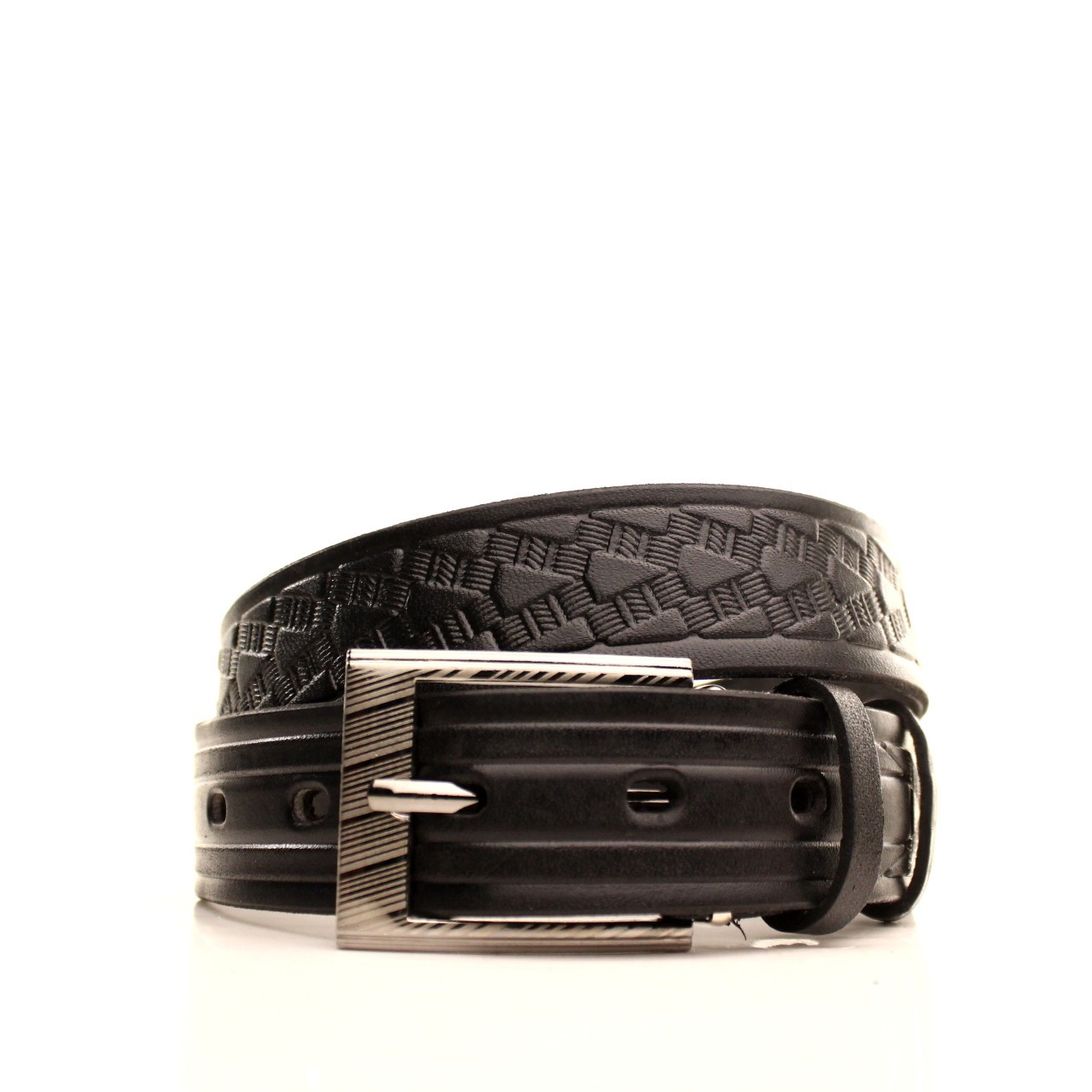Ремень кожаный Lazar 70-80 см черный l30u3w13
