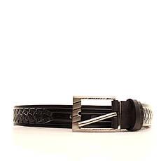 Ремень кожаный Lazar 70-80 см черный l30u3w13, фото 2