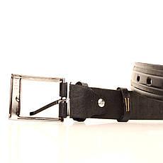 Ремень кожаный Lazar 70-80 см черный l30u3w13, фото 3