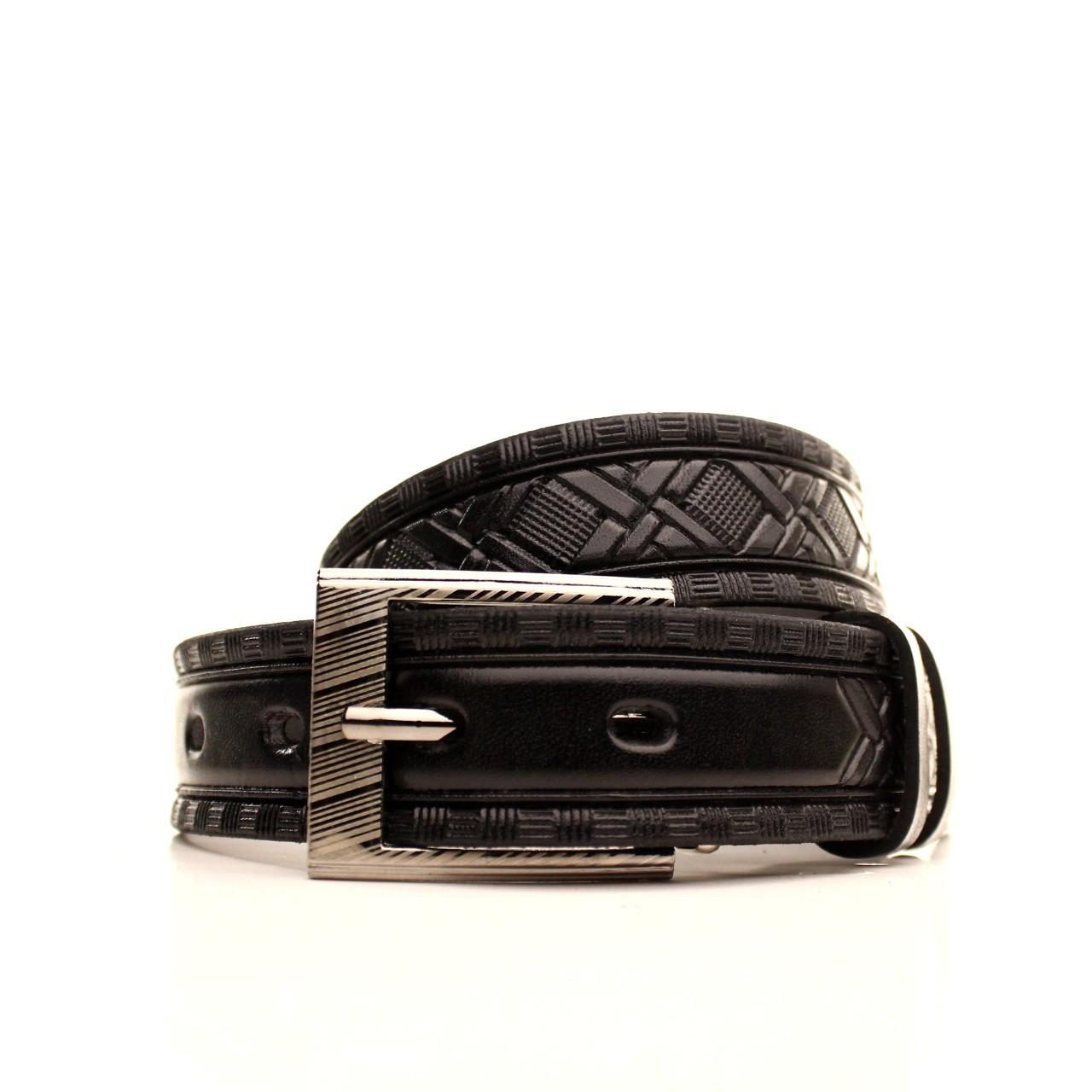 Ремень кожаный Lazar 70-80 см черный l30u3w20