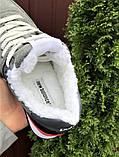 Женские кроссовки New Balance 574 серые зима Нью Беленс на меху натуральная замша, фото 2