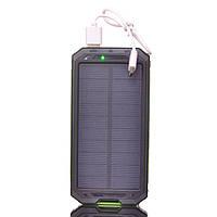 Power bank Sol-7 15000*mAh c сонячною батареєю компас + ліхтар(2 режими), фото 1