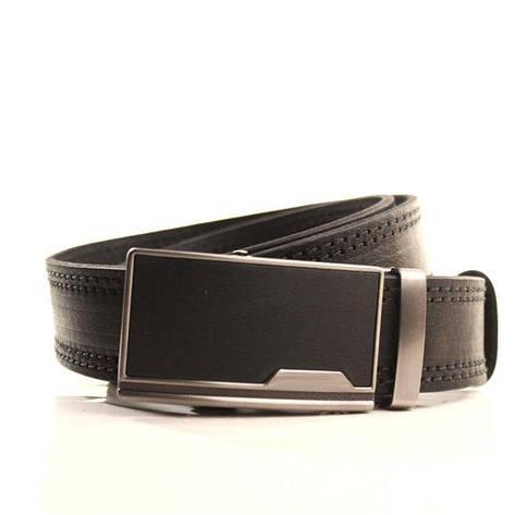 Ремень кожаный Lazar 105-115 см черный l35y1a13, фото 2