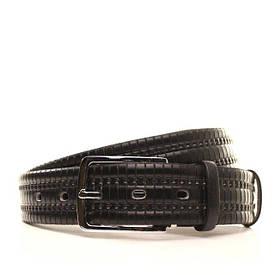 Ремень кожаный Lazar 130-140 см черный l35u1w64-1