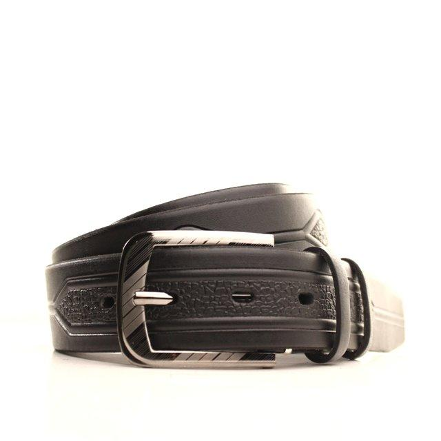 Ремень кожаный Lazar 120-125 см черный l35u1w72