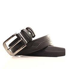 Ремень кожаный Lazar 120-125 см черный l35u1w72, фото 3