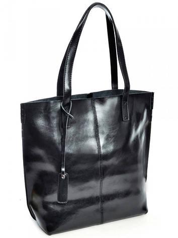 Женская сумка кожаная большая Case 8287 черная, фото 2