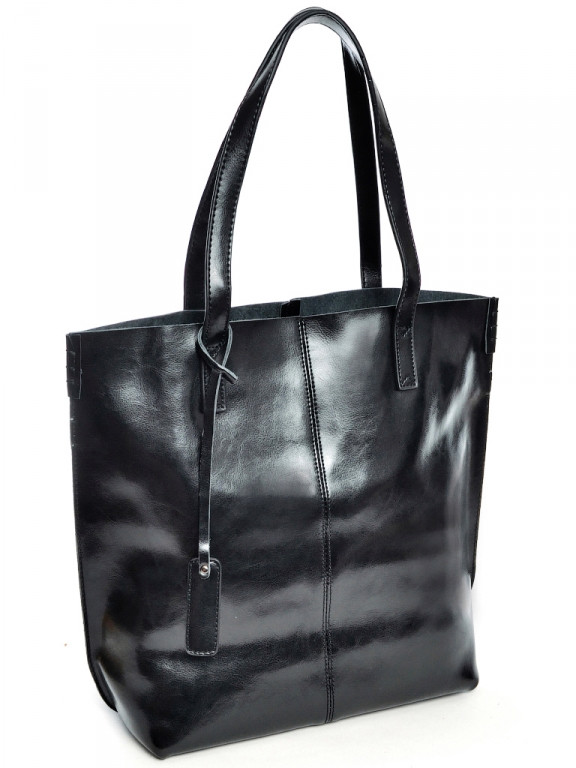 Женская сумка кожаная большая Case 8287 черная