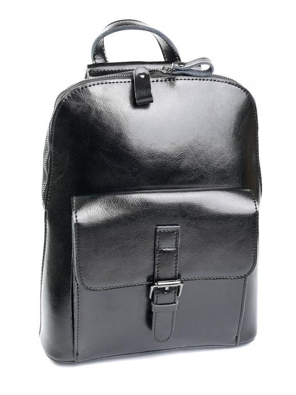 Женский рюкзак кожаный Case 830HK черный