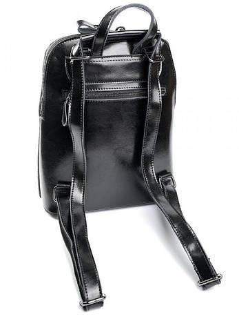 Женский рюкзак кожаный Case 830HK черный, фото 2